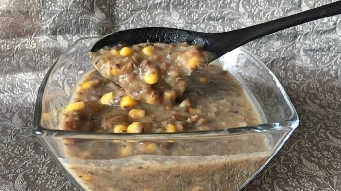Суп-пюре грибной с кукурузой