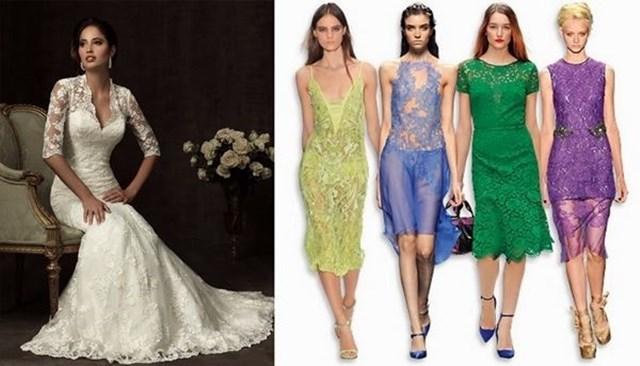 Модные платья: кружева и тонкая отделка