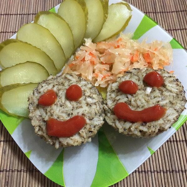 Рисовые маффины с грибами и тофу