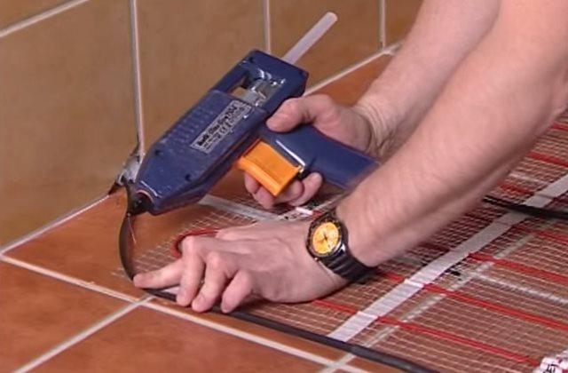Монтаж электрического теплого пола. Видео и инструкция