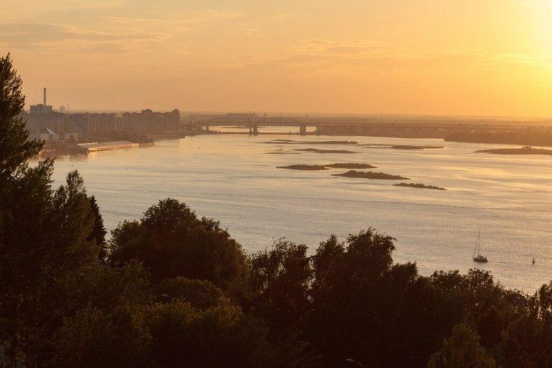 Волга на закате, Нижний Новгород