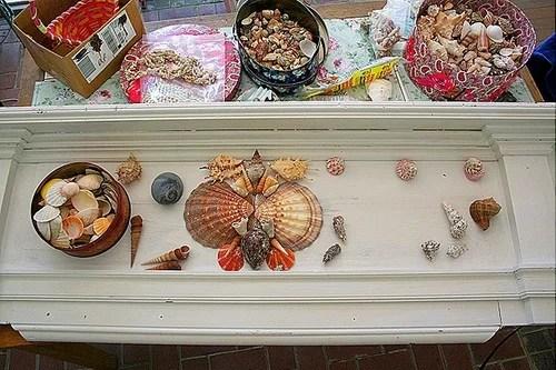 декор интерьера из ракушек