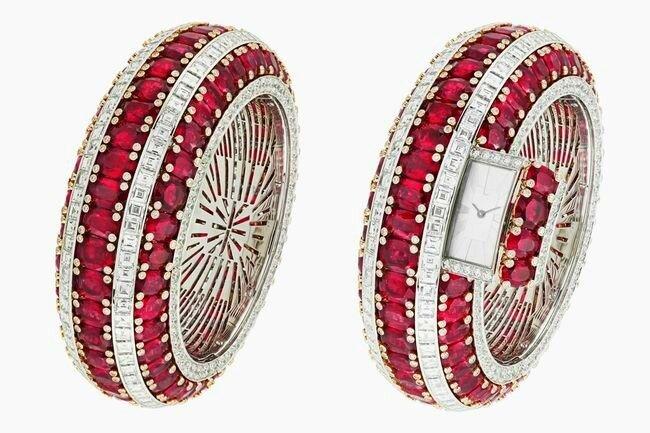 Рубиновый браслет с секретом от Van Cleef & Arpels