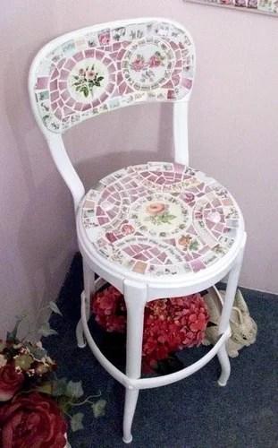 реставрация декорирование мебели мозаикой своими рками хендмейд