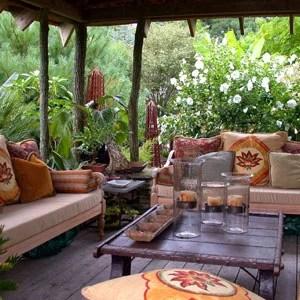 терраса в саду