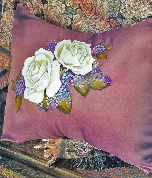 мастер класс роспись наволочки на подушку