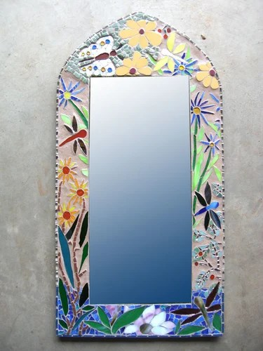 мозаика зеркало стол фонарь