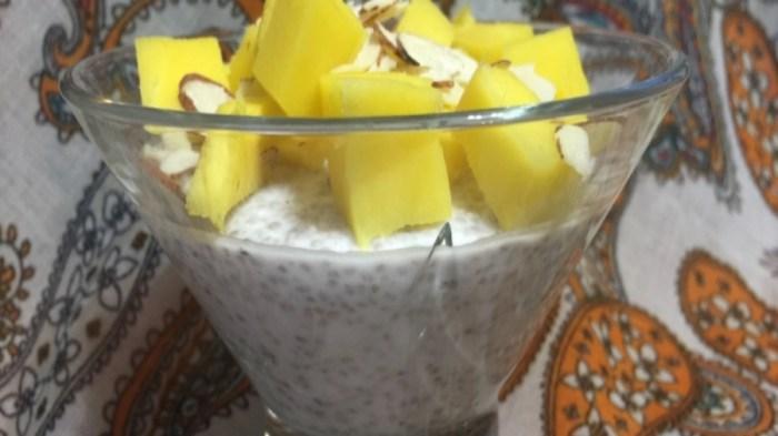 Пудинг с семенами чиа. Отличный завтрак.