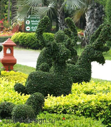 зеленые фигурки зверей