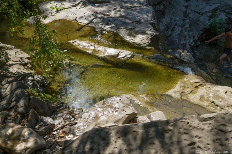 Водопад Нижний, река Жане, Геленджик