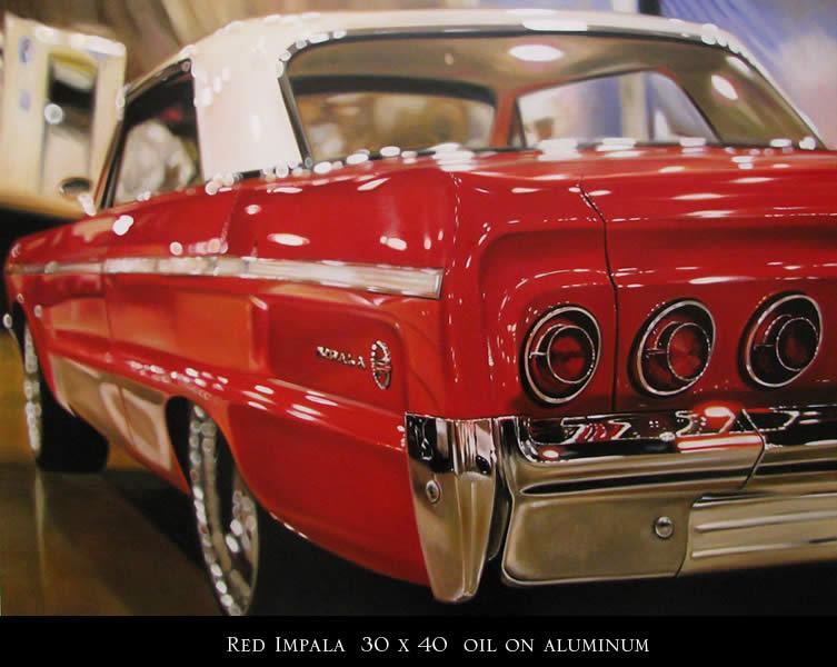Гиперреалистичные американские автомобили на картинах Cheryl Kelley / Шерил Келли