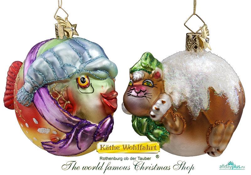 Поэзия воплощённая в стекле: ёлочные игрушки (и не только) Кэти Вольфарт