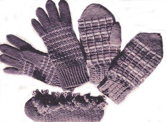 как связать варежки. перчатки, тапочки
