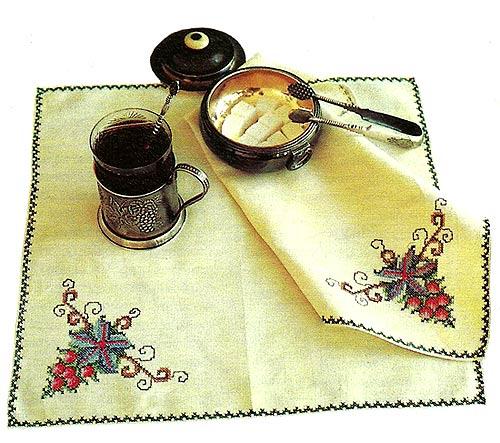 вышивка на скатерти схема