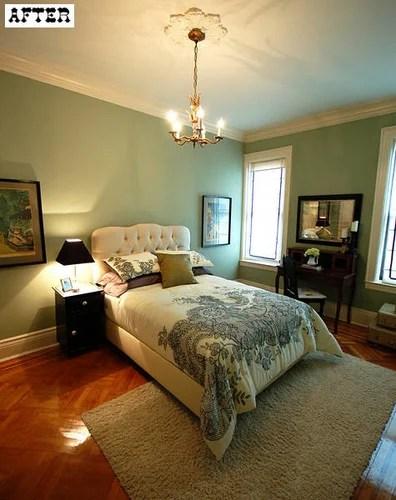 интерьер дизайн спальни до и после классический стиль