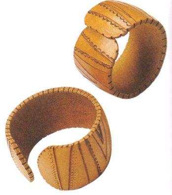 браслет хендмейд из кожи своими руками