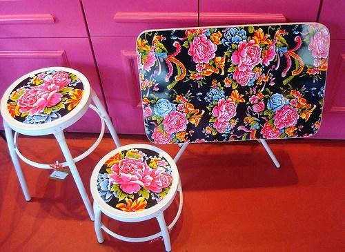 столик и стульчики декупаж хендмейд мебели