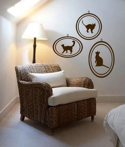 декор стены своими руками кошки