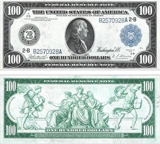 Как менялся дизайн 100 долларовых банкнот США в 19 21 веках