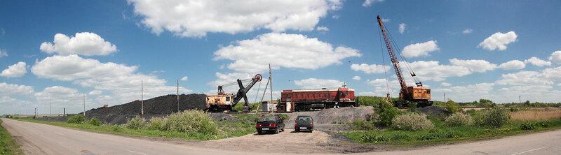 Панорама угольного склада