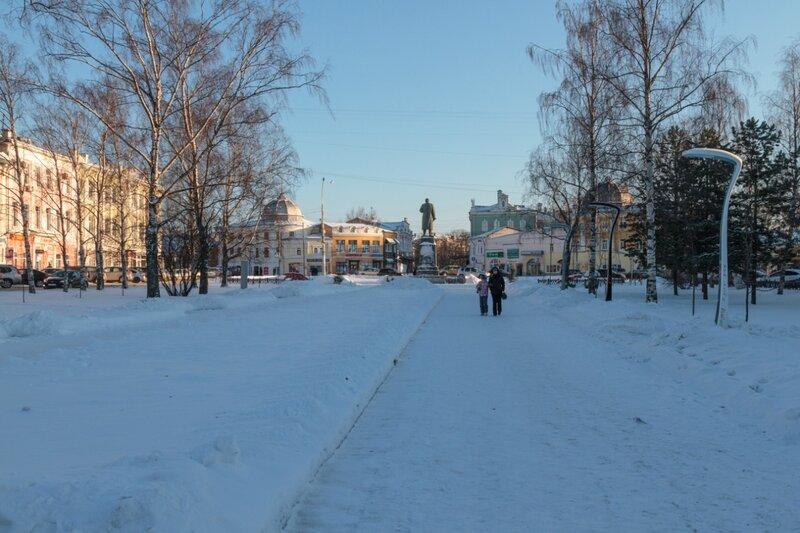 Бульвар и памятник Ленину, Вологда