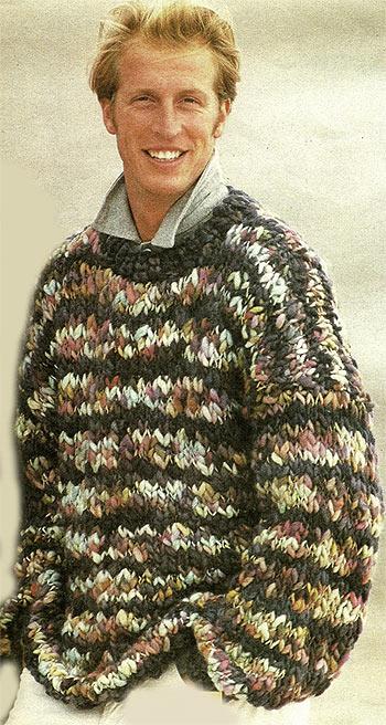 мужской свитер крупной вязкой
