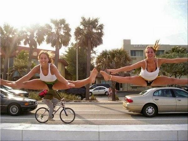Радостные фотографии прыгающих людей и животных