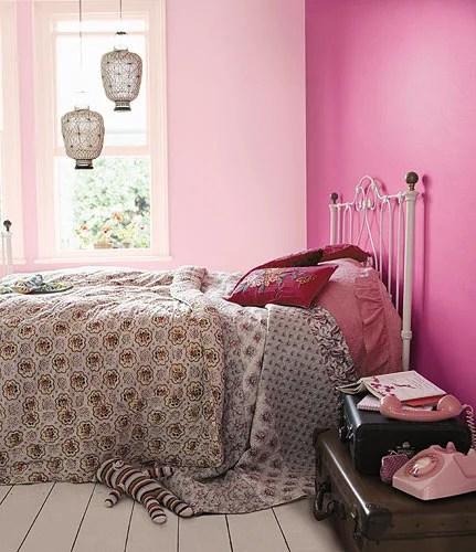 розовый в интерьере