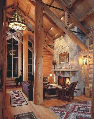 интерьер в стиле охотничего домика