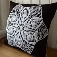 Декор подушек - вязание крючком