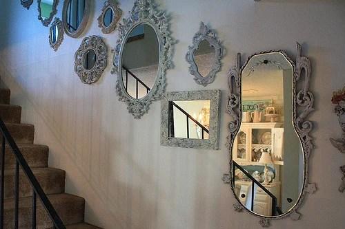 декор интерьера зеркалами