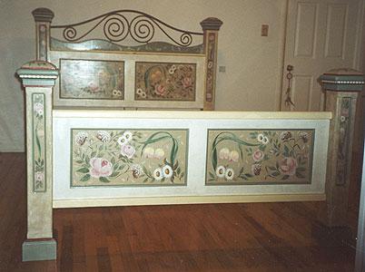 роспись мебели для спальни
