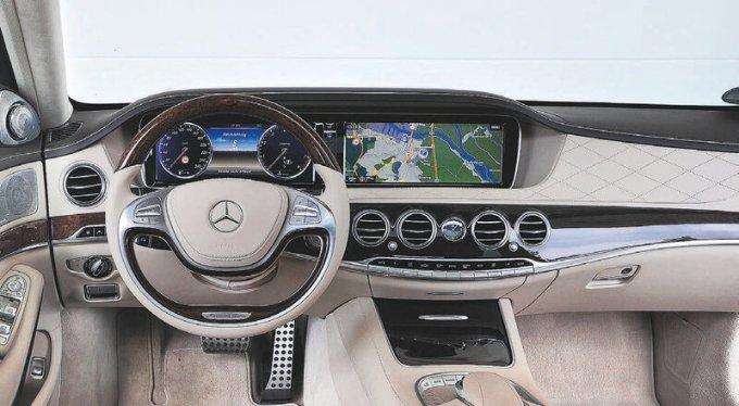 Салон автомобиля Mercedes S-class