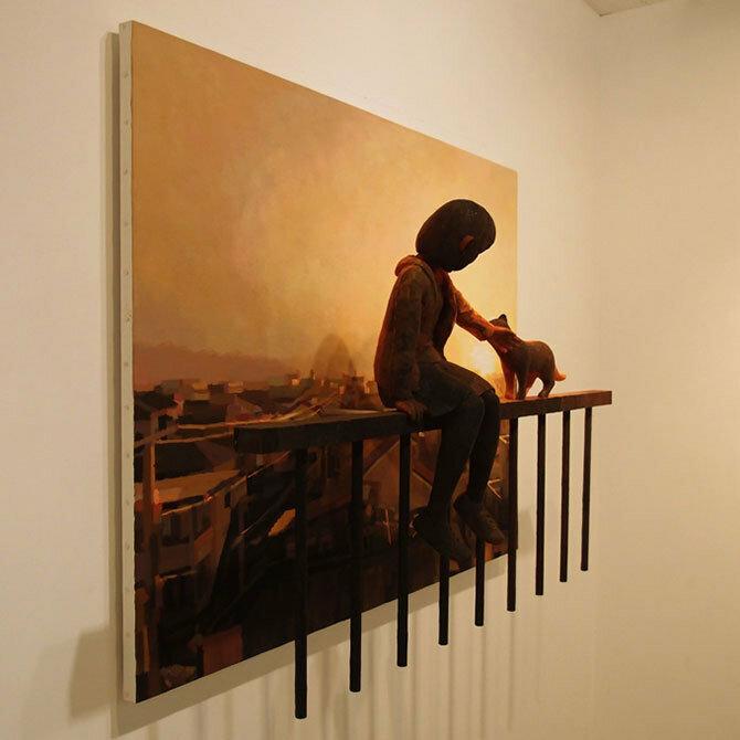 Картины-скульптуры Шинитаро Охато