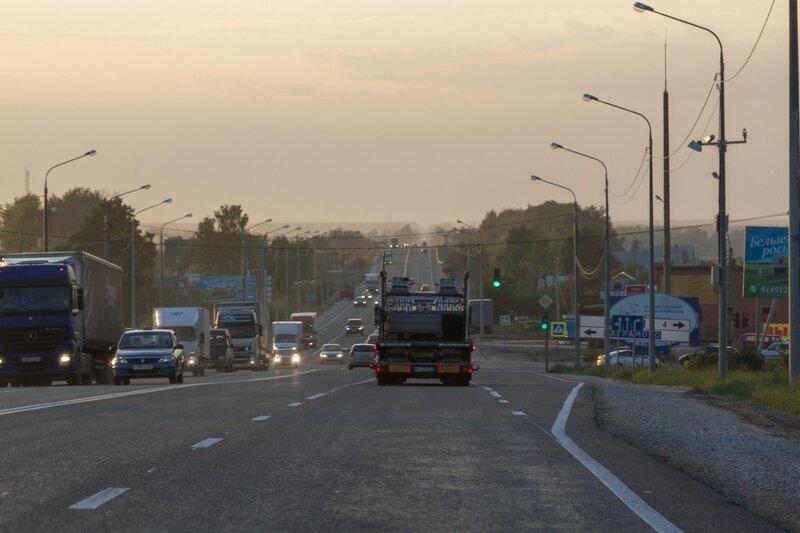 Рязанское шоссе в Московской области