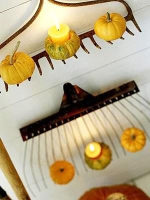 декорирование помещения тыквами