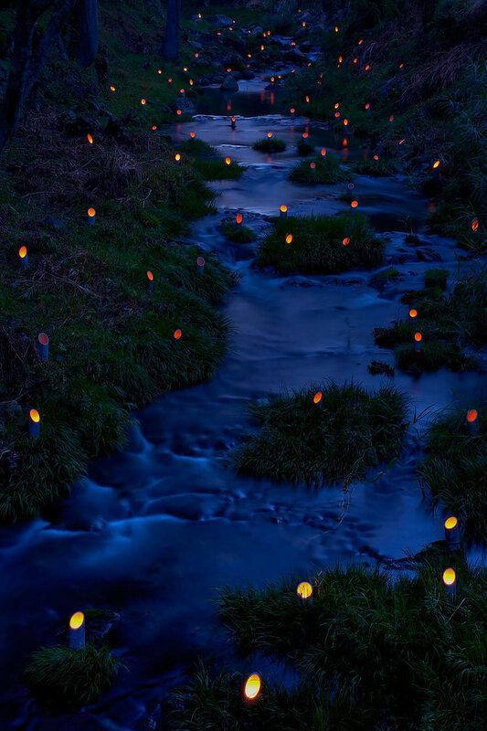 Фестиваль бамбуковых светильников в городе Такета