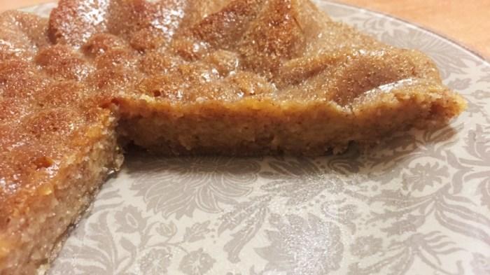 Пирог с бананом и манго