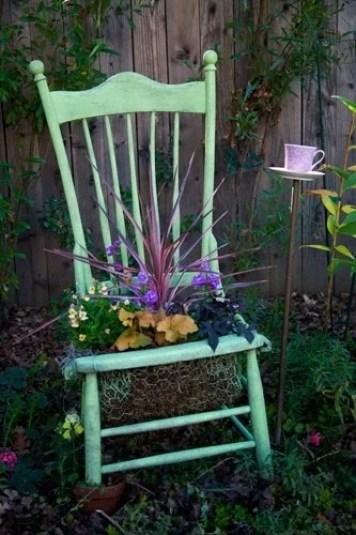 клумба в стуле идеи для сада