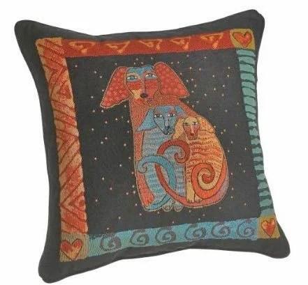 подушки хендмейд с рисунками кошек