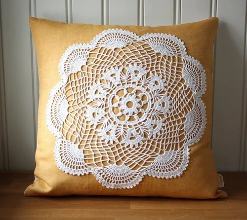handmade crochet pillow