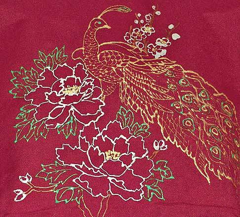 роспись в китайском стиле павлин
