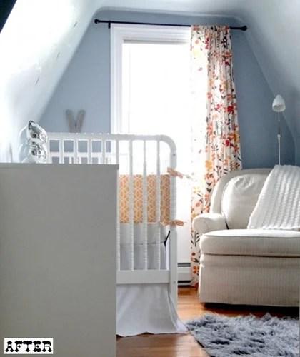 интерьер детской до и после дизайна