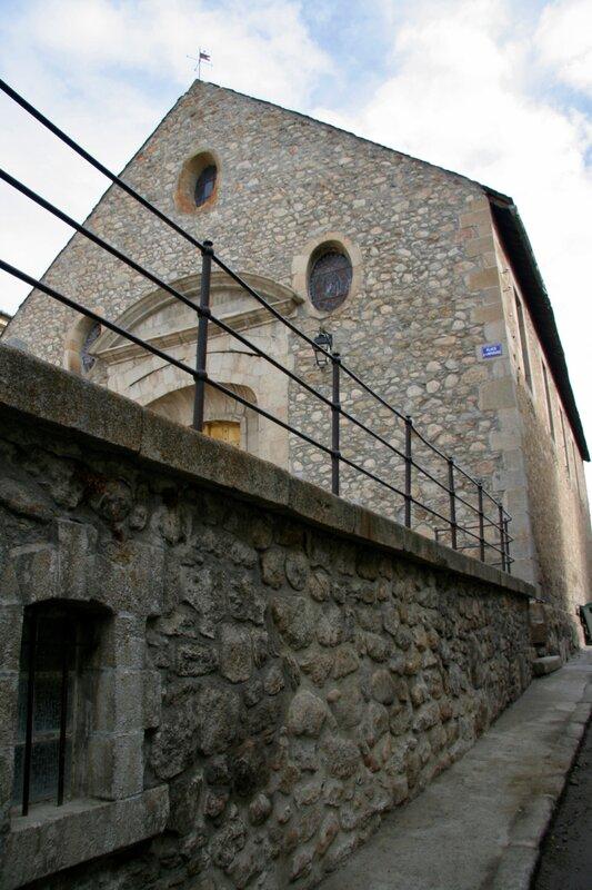 Стена старой прачечной в крепости Мон-Луи