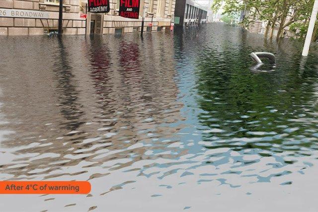Глобальное потепление: на сколько будут затоплены города при повышении температуры