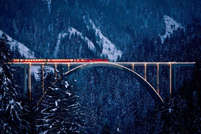 Красивая железная дорога в Альпах добавлена в список Всемирного наследия