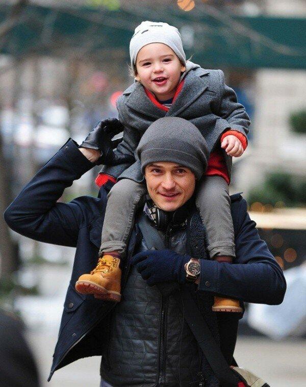 Орландо Блум и его сын от Миранды Керр — Флинн