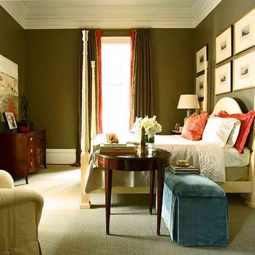 песочный цвет стен в гостиной