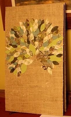 аппликация из ткани - крона дерева