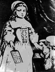 пуританская девочка с азбукой